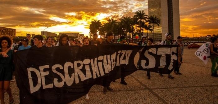Porte de Drogas Legalização Maconha Protesto