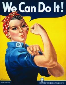 We Can Do It! (Nós podemos fazer isso!), de J. Howard Miller, 1943.