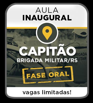 Aula Grátis - Prova Oral - CAPITÃO DA PM/RS - PRESENCIAL